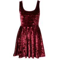 Мини-платье плюшевое TOPSHOP Velvet Cut Out Skater Dress, р.S