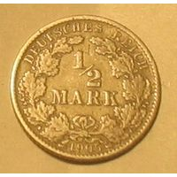 1/2 марки 1905J Германия