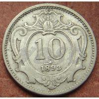 5432:  10 геллеров 1893 Австро-Венгрия