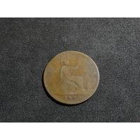 Великобритания, 1 пенни, 1860