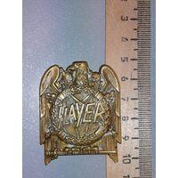Накладка значок американской трэш-метал группы Slayer латунь
