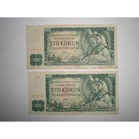 100 крон 1961 год Чехословакия.