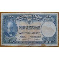 Албания (Р3) - 1925-26 - 20 франга
