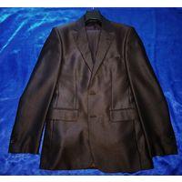 Классический приталенный костюм City Life (тёмно-коричневый)