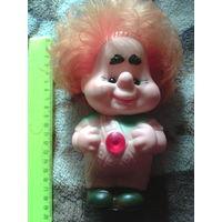 Винтажная игрушка из СССР .Карлсон, писчалка из резины.