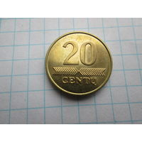 ЛИТВА 10 ЦЕНТОВ 2008 ГОД