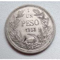 Чили 1 песо, 1933 6-1-29