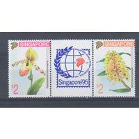 [1505] Сингапур 1994. Флора.Цветы.Орхидеи.