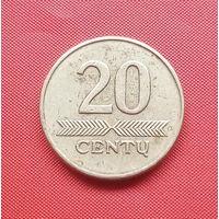 71-27 Литва, 20 центов 1997 г.
