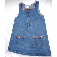 На 5-6 лет джинсовый сарафан Sweet Innoсence, очень красивый
