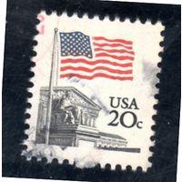США.Ми-1522. Флаг над Верховным судом Дин Эллис. 1981.