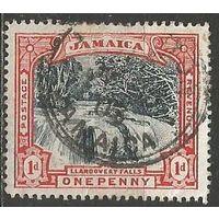 Ямайка. Водопад. 1901г. Mi#32.