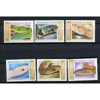 Бенин - 1999 - Рептилии - [Mi. 1177-1182] - полная серия - 6 марок. MNH.