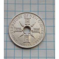 Британское Папуа Новая Гвинея Шиллинг 1938г. Серебро 0,925