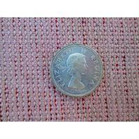 Монета ЮАР 1958 года серебро