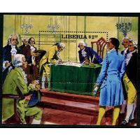 Либерия - 1982г. - Подписание Конституции - полная серия, MNH [Mi bl. 100] - 1 блок