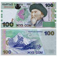 Киргизия. 100 сом (образца 2002 года, P21, UNC) [серия BD]