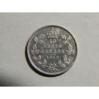 Канада 10 центов 1918г
