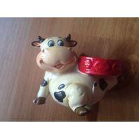 Статуэтка подсвечник свинка, полирезин, высота 7 см, низ 9 см. Очень позитивная свинка.