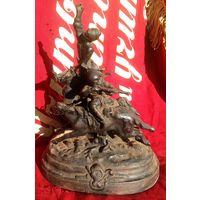 Скульптура. Джигитовка 1980г. Касли.