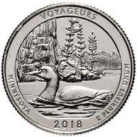 США 25 центов 2018 43 парк Национальный парк Вояджерс D