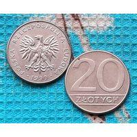 Польша 20 злотых 1990 года. Рубчатый гурт! Инвестируй выгодно в монеты планеты!
