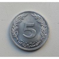 5 миллим 1960 г. Тунис