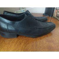 Туфли мужские кожаные, 42 размер