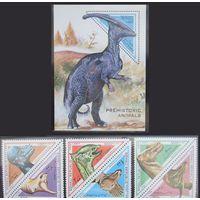 Сомали 1997 - доисторическая фауна/динозавры (6 марок + блок)