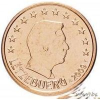 1 евроцент 2009 Люксембург UNC из ролла