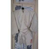 Кимоно куртка +пояс для занятий дзюдо.