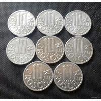 10 грошей, Австрия 1963, 1968, 1971, 1975, 1978, 1986, 1989 г.