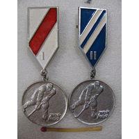 Медаль. 1-е и 2-е место в соревнованиях по хоккею. цена за 1 шт.