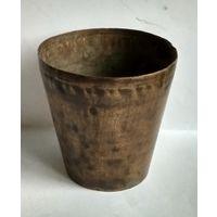 Рюмка стакан без стопки медь латунь 19 век Россия