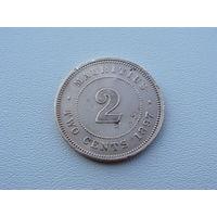 "Маврикий. 2 цента 1897 год   KM#8  ""Виктория""  Редкая!!!"