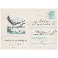 ХМК СССР, прошедший почту. Аисты