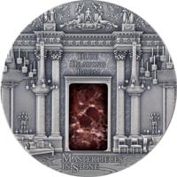 "Фиджи 10 долларов 2014г. ""Букингемский дворец"". Монета в капсуле; подарочном футляре - рамке; сертификат; коробка. СЕРЕБРО 93,30гр.(3 oz)."