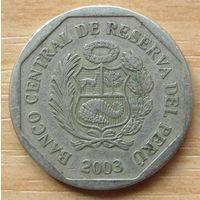 ПЕРУ,50сентимо2003г.  KM#307.1