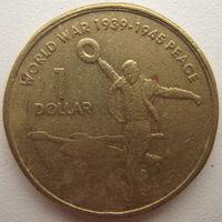 Австралия 1 доллар 2005 г. 60 лет со дня окончания Второй Мировой войны