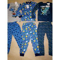 Новая пижама для мальчика, хлопок, на 4-5 лет