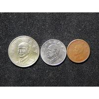 Тайвань 1,5,10 долларов 1981-2019г