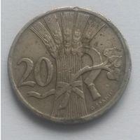 Чехословакия, 20 геллеров, 1921 год