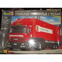 Iveco Ferrari racing trailer 1:24