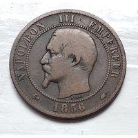 """Франция 10 сантимов, 1856 """"A"""" - Париж 3-12-17"""