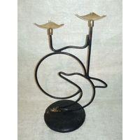 Подсвечник дельфин СССР на две свечи