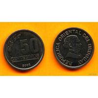 Уругвай 50 ЧЕНТЕЗИМО 2002г.  распродажа