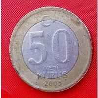 36-26 Турция, 50 куруш 2005 г.