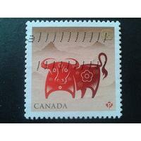 Канада 2009 год быка