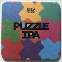 Подставка под пиво Puzzle Ipa пивоварни N.Rigas brewery /Россия/ - 2