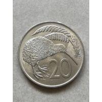 Новая Зеландия 20 центов 1967г  UNC Первые 20центов С рубля